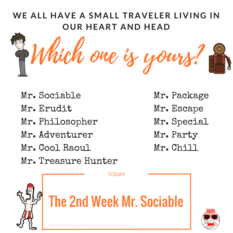 The 2nd Week Mr. Sociable Best trip to Colombia