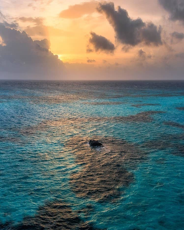 Sunrise over the coral reefs of Providencia