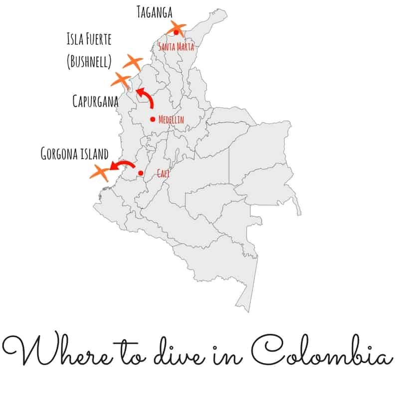 Interesing fact about Colombia Cheap Dives Map