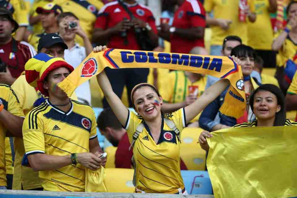 Colombian supporter Football