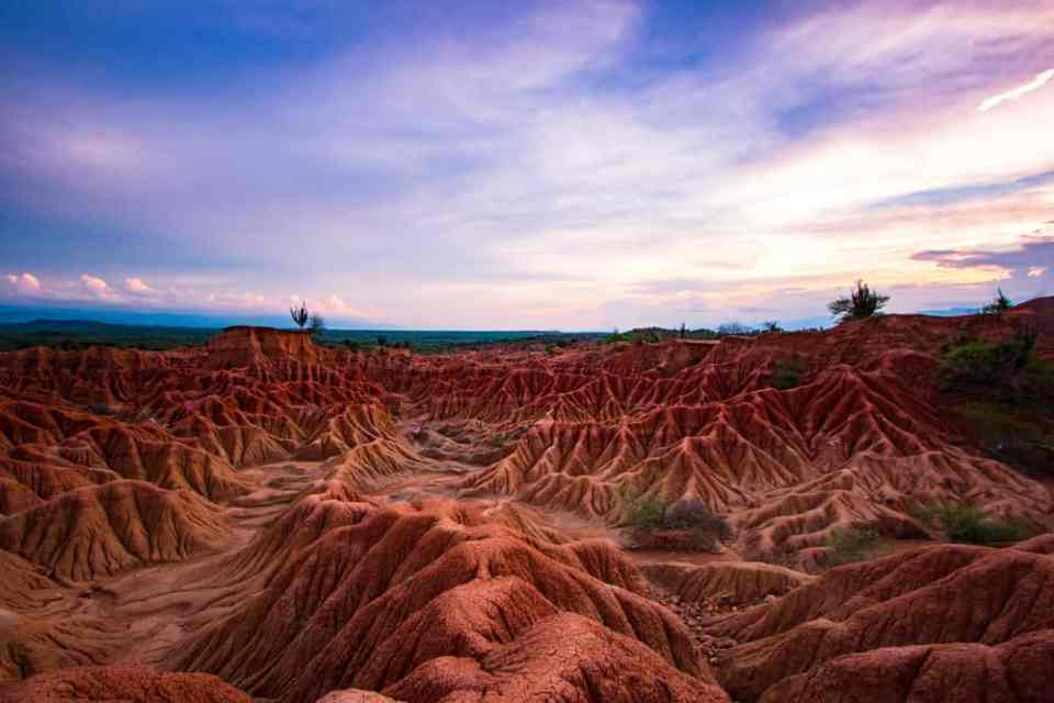 Sunset Tatacoa desert Best time to travel to Colombia