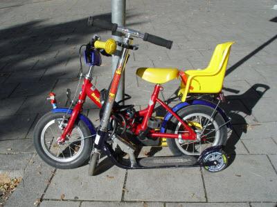 Kinderfahrrad & Roller