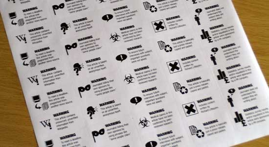 A sheet of stickers.