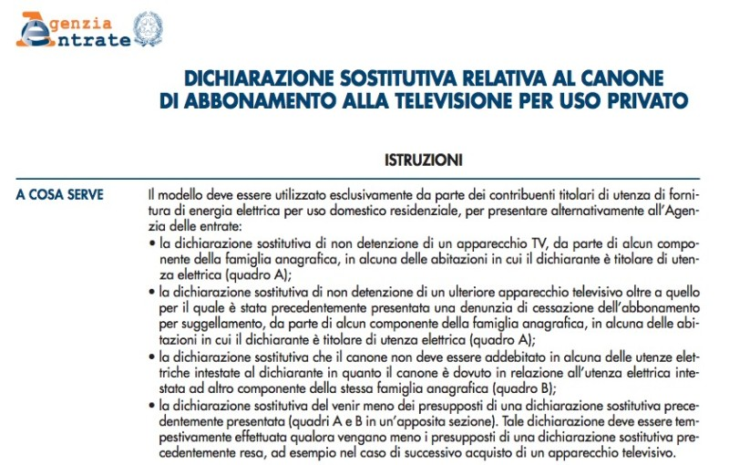 Esenzione Canone Rai In Bolletta Procedura Web Dal 4 Aprile