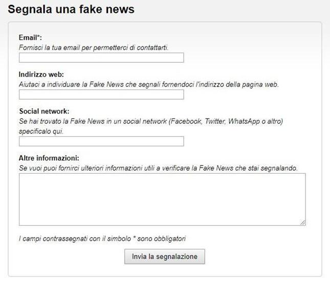 Fake news? Da oggi si possono segnalare online alla Polizia