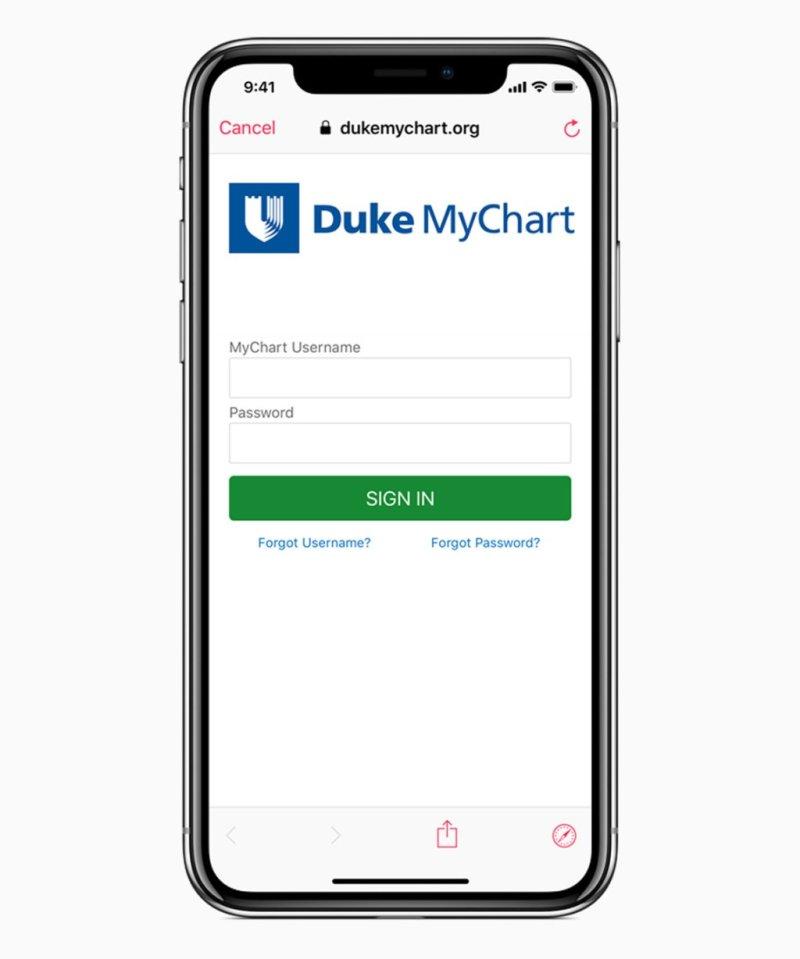 iOS 11 3 health provider signin screen 03292018