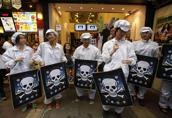 protesta operai cinesi