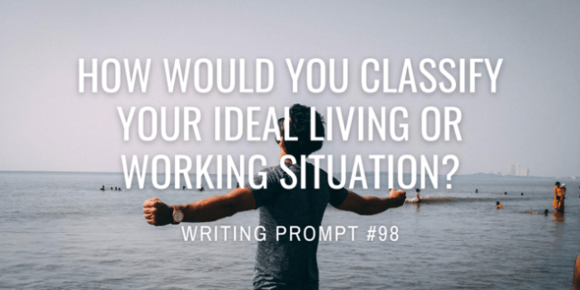 How would you classify your ideal living or working situation?