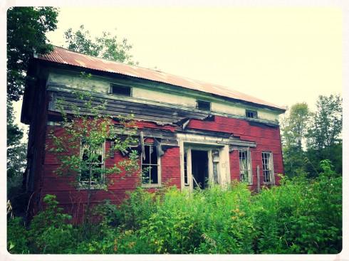 Abandoned Farmhouse On Wood Road