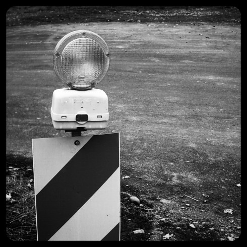 Caution Light BW