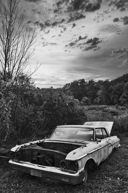 Dead Car Near New York / Connecticut Border