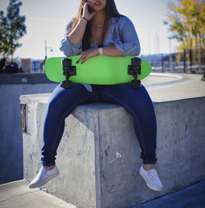 Makayla At The Skate Park