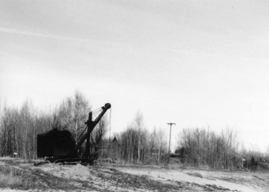 The Dig, Ilford Pan 4, ISO 50, Canon AE-1, 50 MM Lens, Chazy, NY