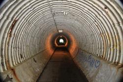 Underground Lit Tunnel