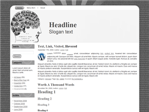 The Contents Of My Head WordPress Theme