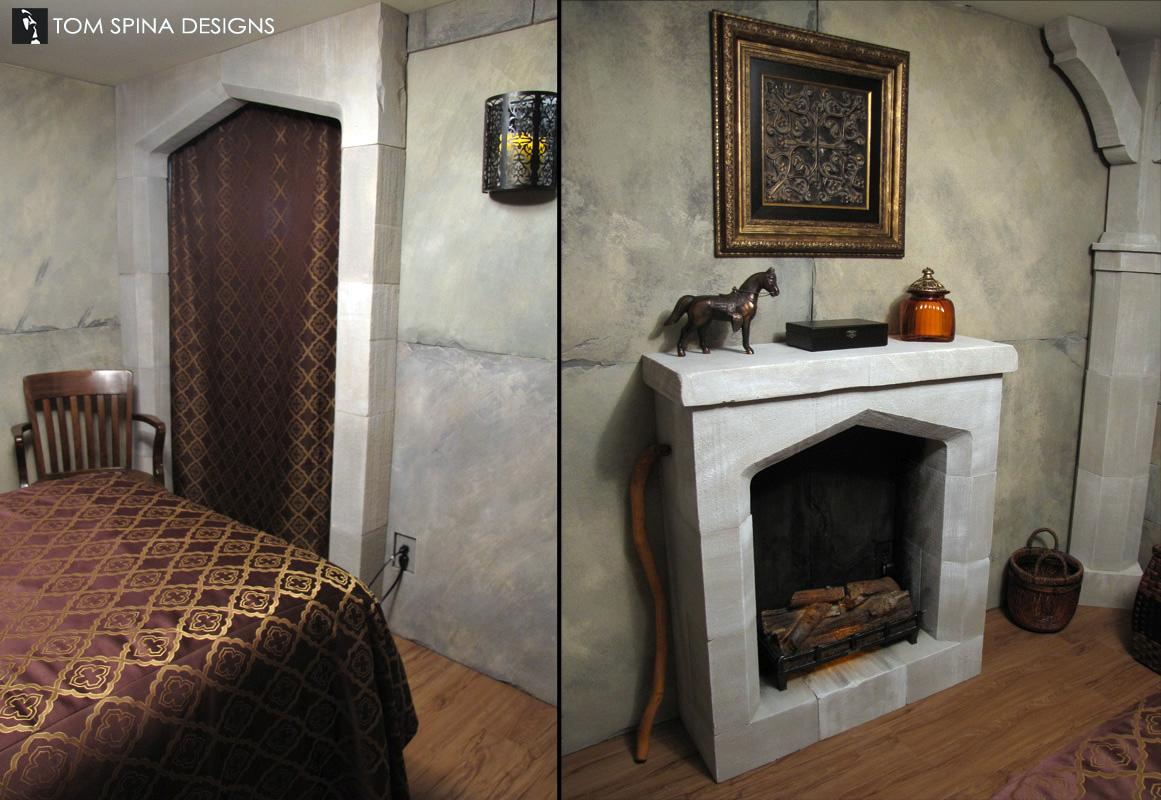 Castle Themed Bedroom Foam Sculpted Decor