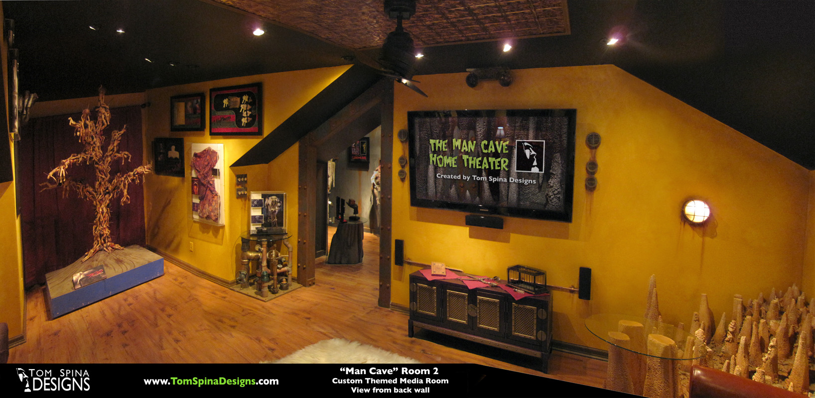 Custom Man Cave   Horror Themed Home Theater   Movie Prop Museum         Man Cave Home Theater Horror Home Cinema