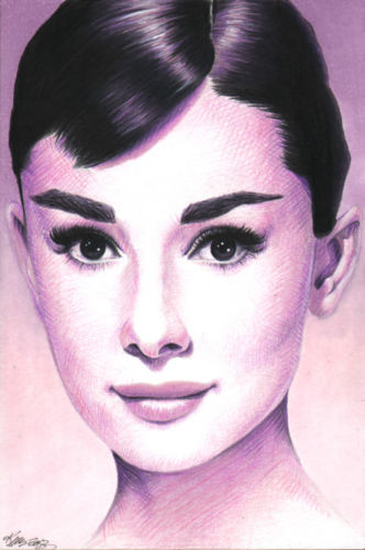Audrey Hepburn drawn by Kristin Allen