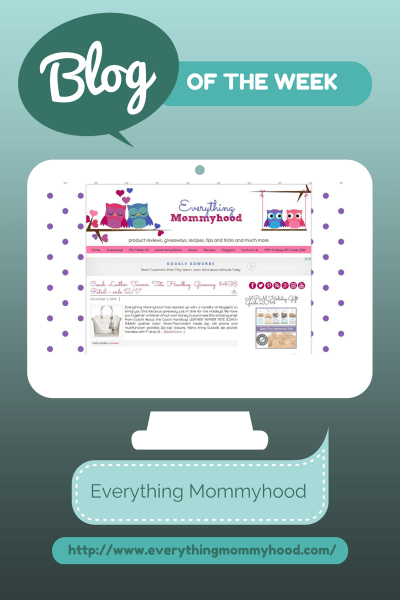 Blog of the Week Everything Mommyhood