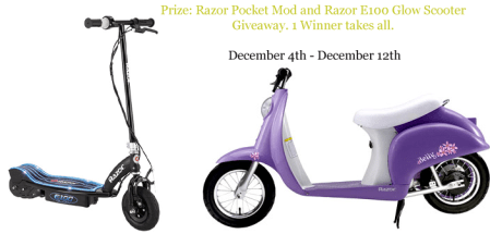 Razor Giveaway #win #giveaway #prizes #sweepstakes