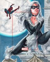 Sketch Card by Rhiannon Owens of Black Cat