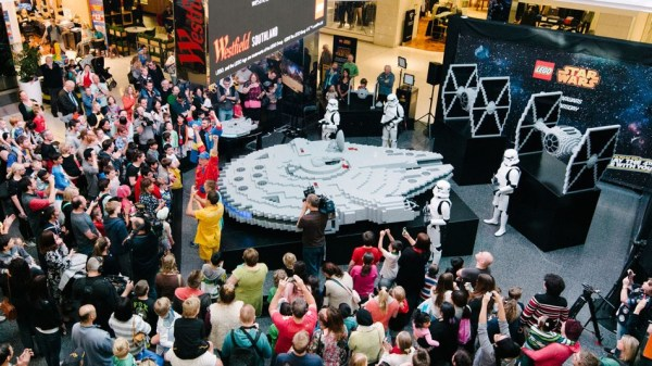 The world's biggest Lego Millennium Falcon built using 250,000 bricks
