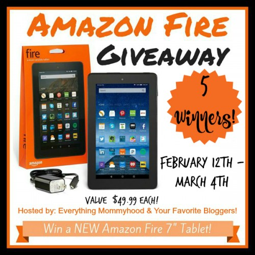 Amazon Fire Tablet Giveaway for five lucky winners - Ends 3/4 Good Luck from Tom's Take On Things