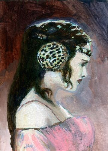 Queen Amidala Star Wars ACEO Sketch Card by Jeff Ward