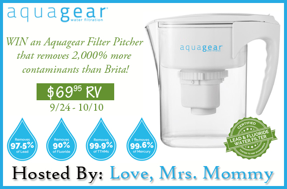 Aquagear Filter Pitcher Giveaway ~ Refresh your Water Good Luck from Tom's Take On Things ends 10/10
