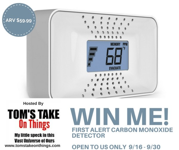 Win a First Alert Carbon Monoxide Detector - Keep your home safe!