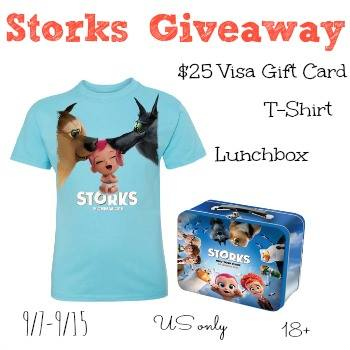 Win a $25 Visa Gift Card and More in the Storks Movie Giveaway