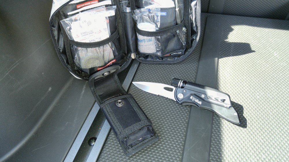 First Aid Kit and Survival Knife from JClaw Tek - Are you prepared?
