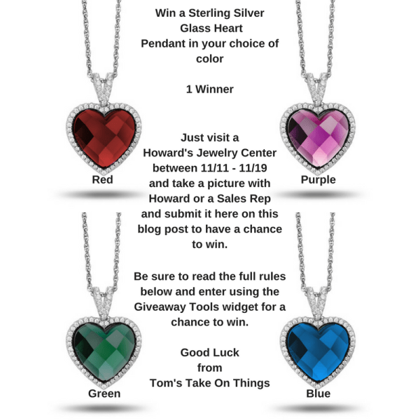 Howard's Jewelry Centers in Ohio Meet Howard Event ~ Win a Sterling Silver Heart Pendant