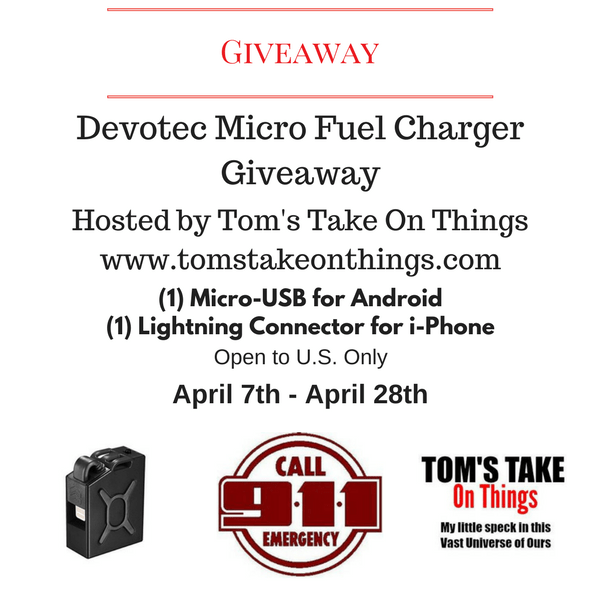 Emergency Micro Fuel Charger Giveaway - 2 winners
