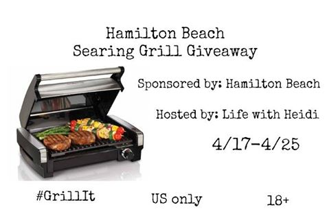 Hamilton Beach Searing Grill Giveaway