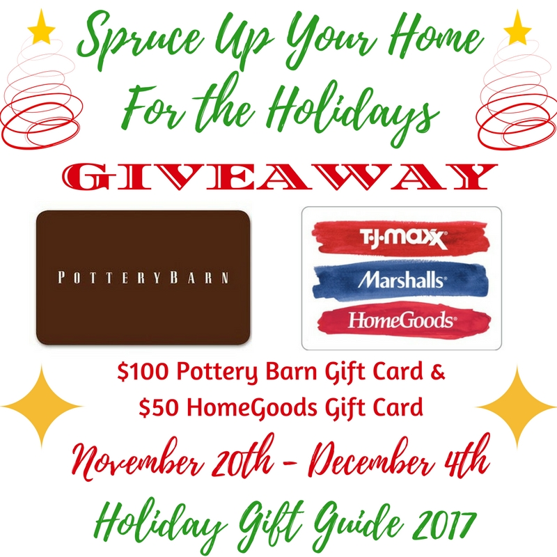 $100 Pottery Barn Gift Card and a $50 HomeGoods/TJ Maxx/Marshalls ...