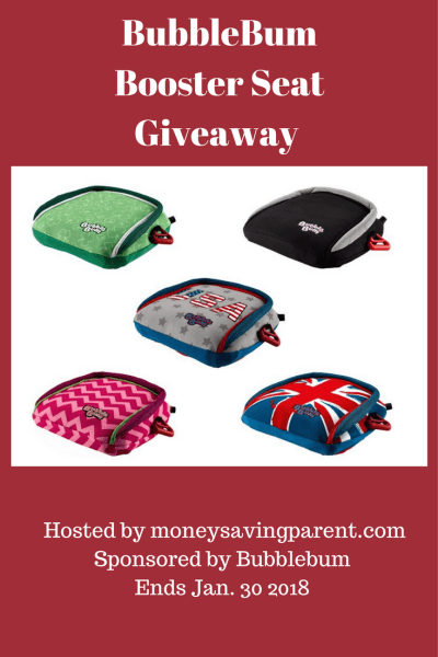 BubbleBum Inflatable Booster Seat Giveaway Ends 1/30
