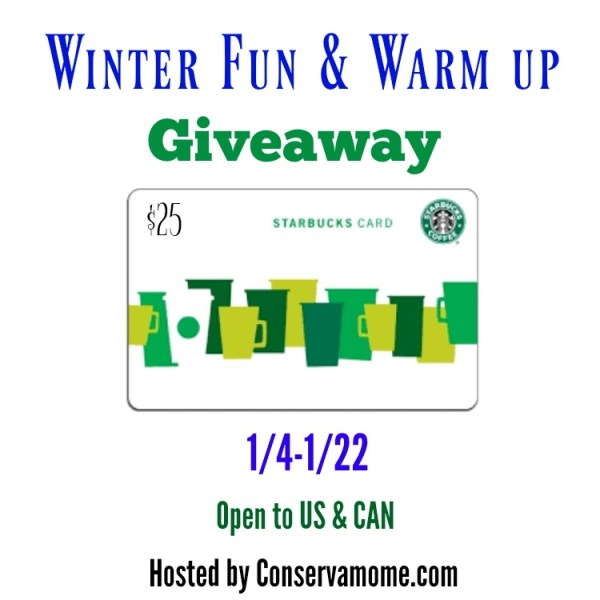 $25 Starbucks Gift Card Giveaway Ends 1/22