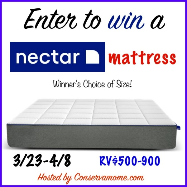Nectar Mattress Giveaway ~ Get a good nights sleep