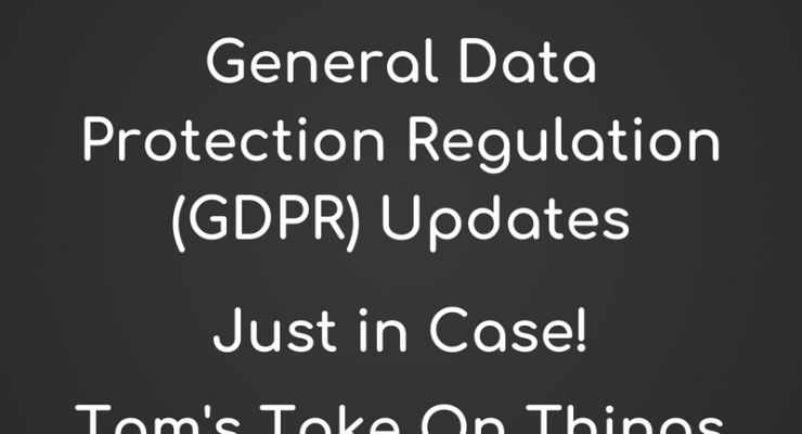 Privacy Policy Updated with GDPR ~ Just to be safe!