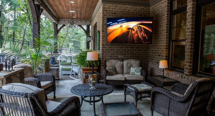 Entertain family and friends outside with the SunBriteTV at Best Buy