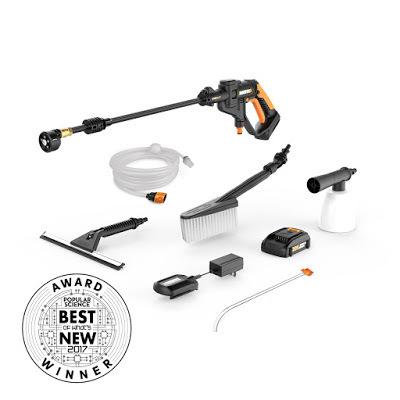 WORX Hydroshot Portable Power Cleaner Value Bundle Giveaway Thanks for being part of Tom's Take On Things Ends 7/5