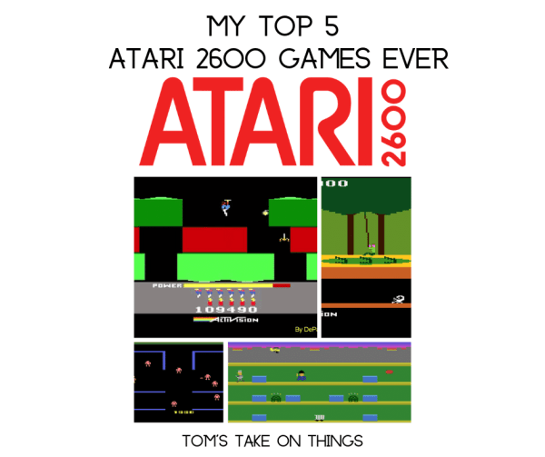 I am rediscovering my love for vintage games and video gaming and I am bringing you my Top 5 Atari 2600 Video Games ~ Check it out