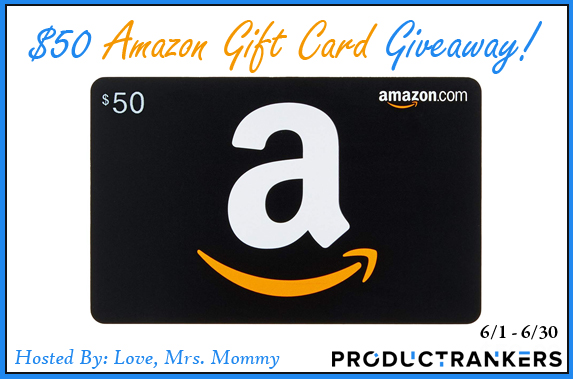 $50 Amazon Gift Card Giveaway Ends 6/30