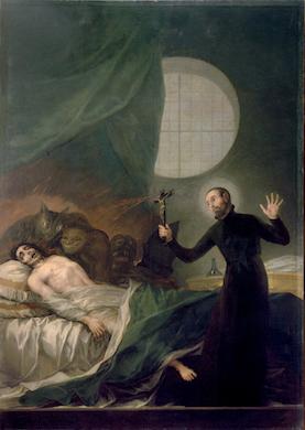 ゴヤ『聖フランシスコ・ボルハによる悪魔祓い』