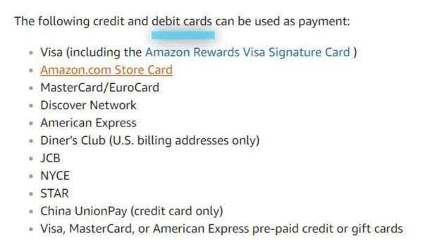 amazon com 支払い 方法