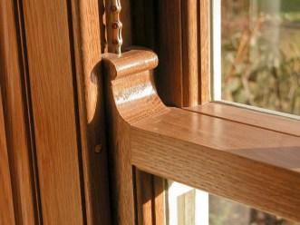 Oak sash window
