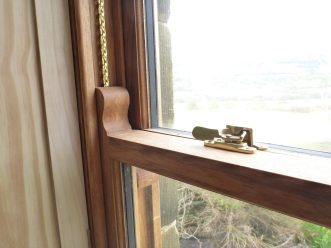 Oak sliding sash