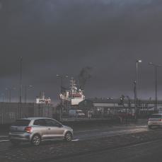 dusk over the port_0002