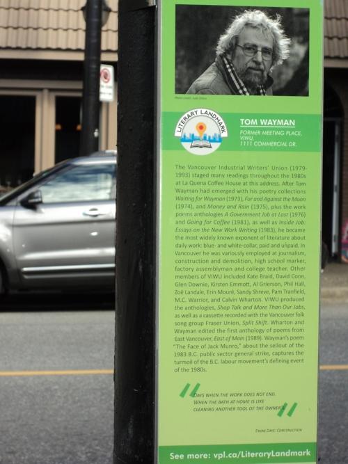 Vancouver Literary Landmark Plaque, Commercial Drive, Vancouver BC